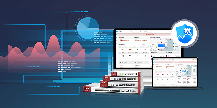 SecuReporter is a cloud-based security analytics software solution that gathers data from Zywall series